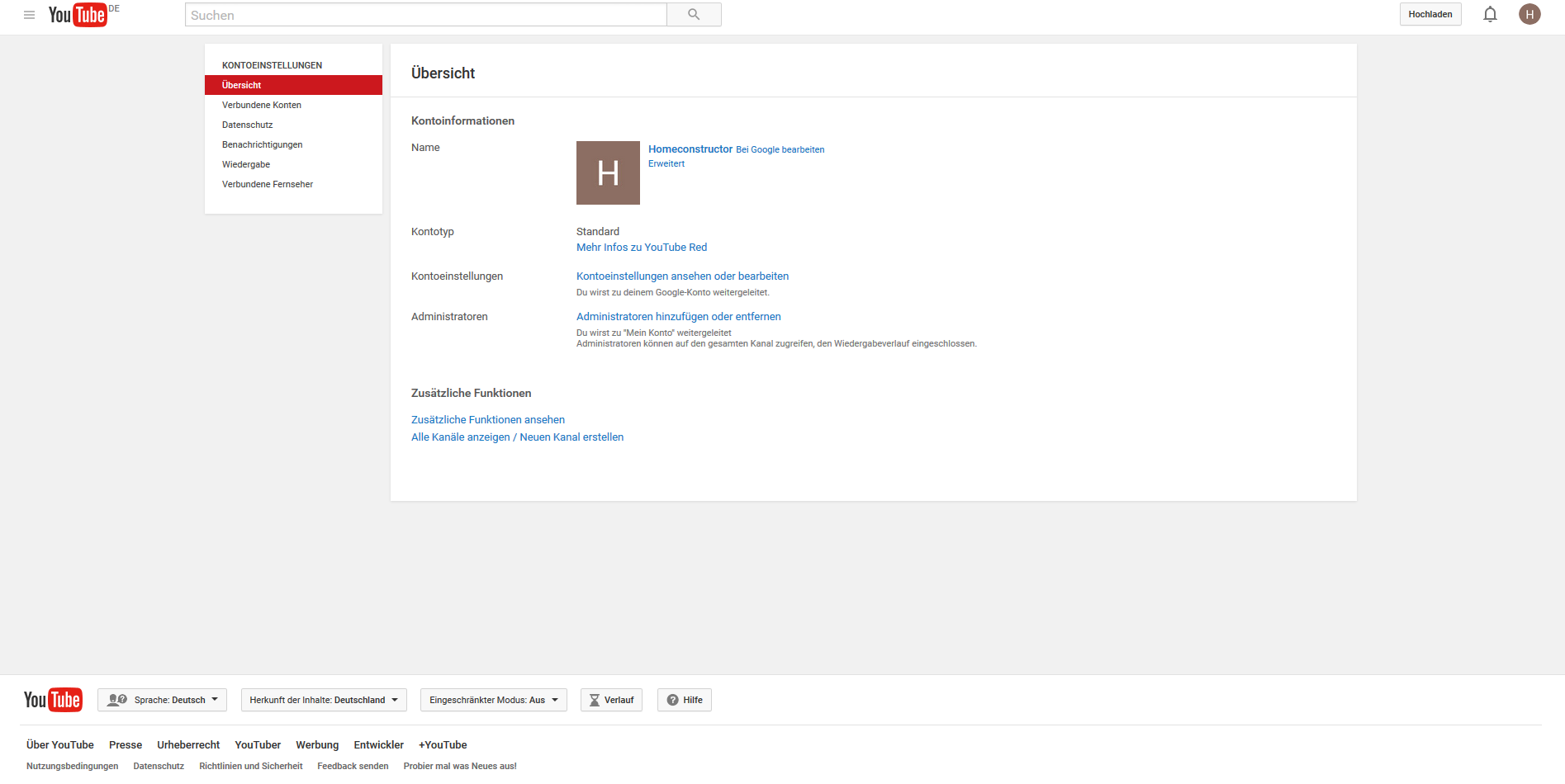 Brand Konto Youtube