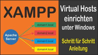 Virtual Hosts in XAMPP einrichten unter Windows