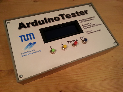 Final microcontroller board tester (front)