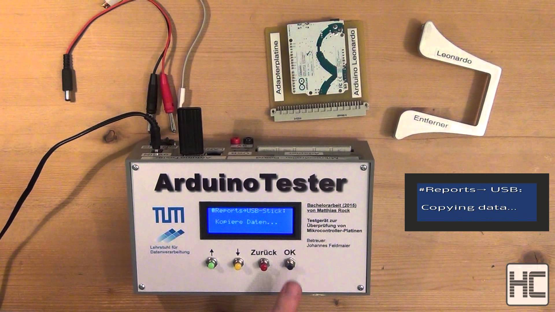 Video: Microcontroller board tester - Operation of the device
