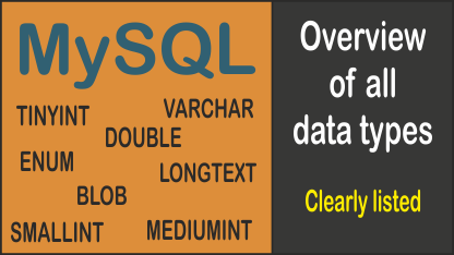All MySQL datatypes