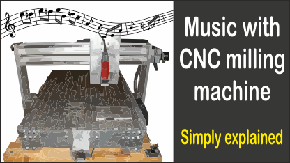 CNC milling machine plays music